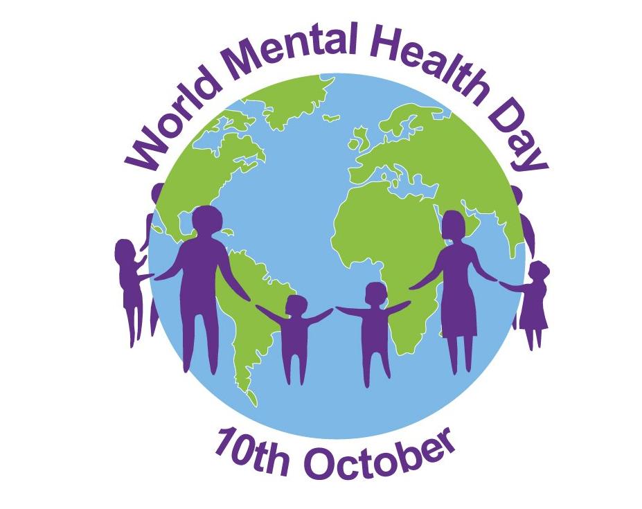 World Mental Health Day Logo Moving A Head